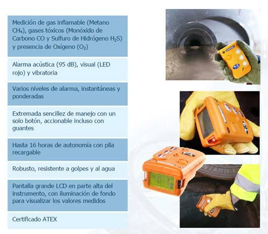 Detectores de cuatro gases