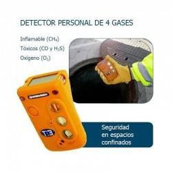 Detector personal de cuatro gases TETRA3