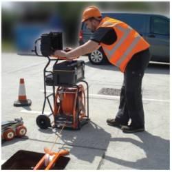 Equipo de inspección CCTV de tuberías con camara oscilo giratoria con laser