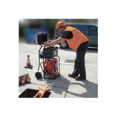 Equipo de inspección CCTV de tuberías camara oscilo giratoria con laser